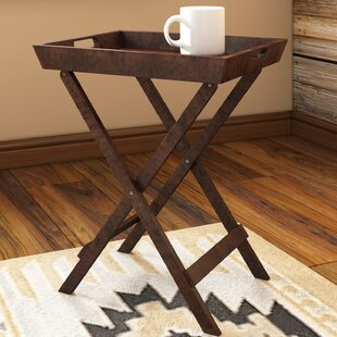 Ramos Solid Wood Tray Top Cross Legs End Table By Birch Lane™ Heritage