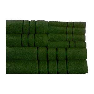 100% Egyptian-Quality Cotton Plush 8 Piece Towel Set