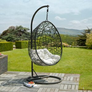 colman rattan egg swing chair with stand