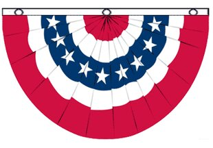 a13479972b5 USA Bunting Pleated Flag
