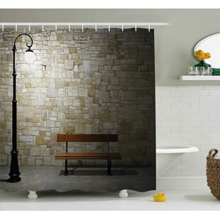Street Dark Night Street View Shower Curtain + Hooks