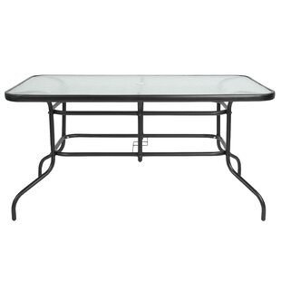 Ebern Designs Sons Rectangular Steel Dining Table