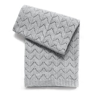 Read Reviews Fan Stitch Wool Blend Baby Blanket By Esteffi