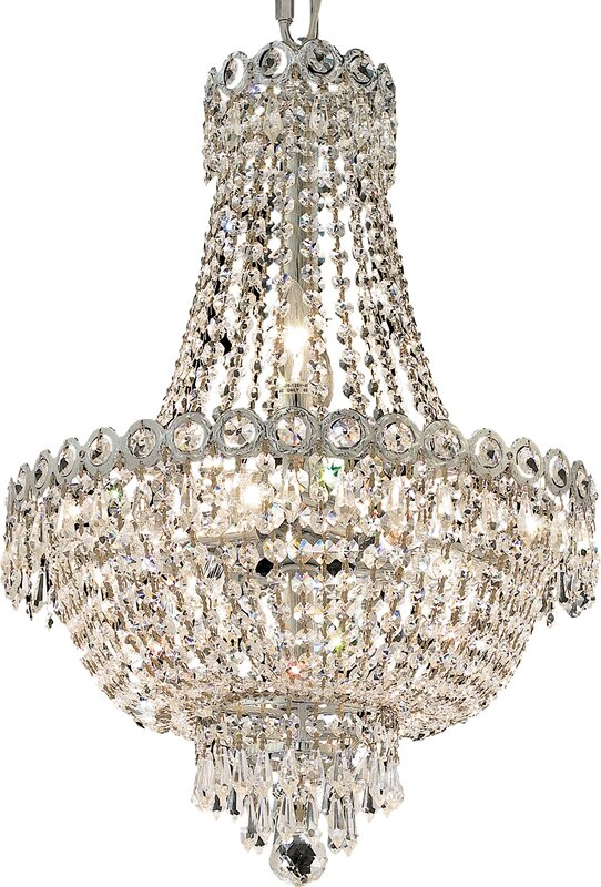 8-Light Empire Chandelier #crystalchandelier #FrenchCountry