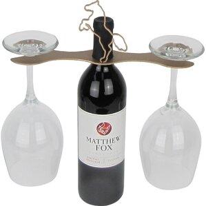 Laser Cut Steel Stall 1 Bottle Tabletop Wine Rack by Metrotex Designs