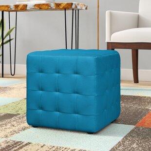 Desjardins Cube Ottoman by Ebern Designs