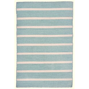 Ranier Pinstripe Hand Woven Blue Indoor/Outdoor Area Rug