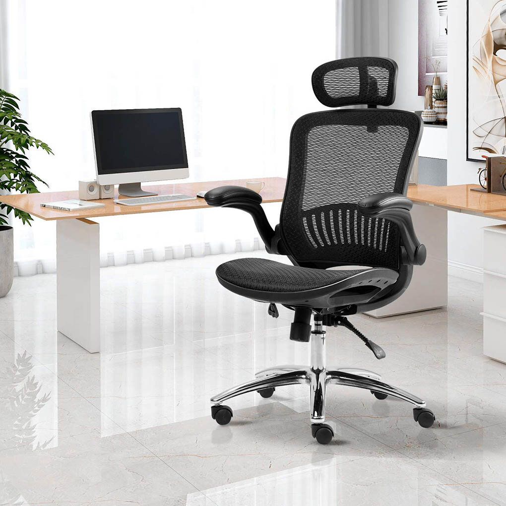 Inbox Zero Office Chair Ergonomic Mesh Adjustable Home Desk Office Chair Modern Design Reclining Chair Black Wayfair Ca