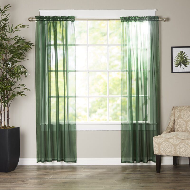 Wayfair BasicsTM Wayfair Basics Solid Sheer Curtain Panels