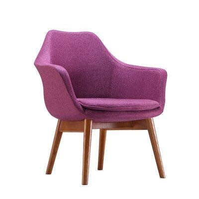 Brayden Studio Shue Armchair Upholstery: Lavender