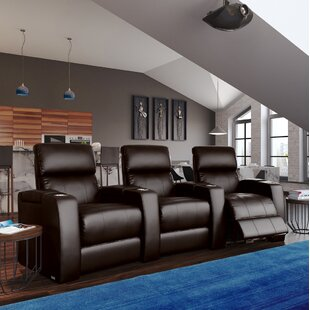 Latitude Run Large Home Theater Curved Row Seating (Row of 3)