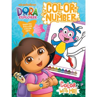 Dora Color By Number Book With Foil