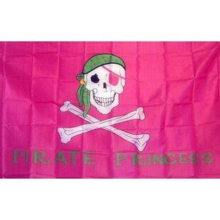 Pirate Princess Skull Traditional Flag ByNeoPlex