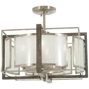 Compare prices Zaleski 4-Light Semi Flush Mount By George Oliver