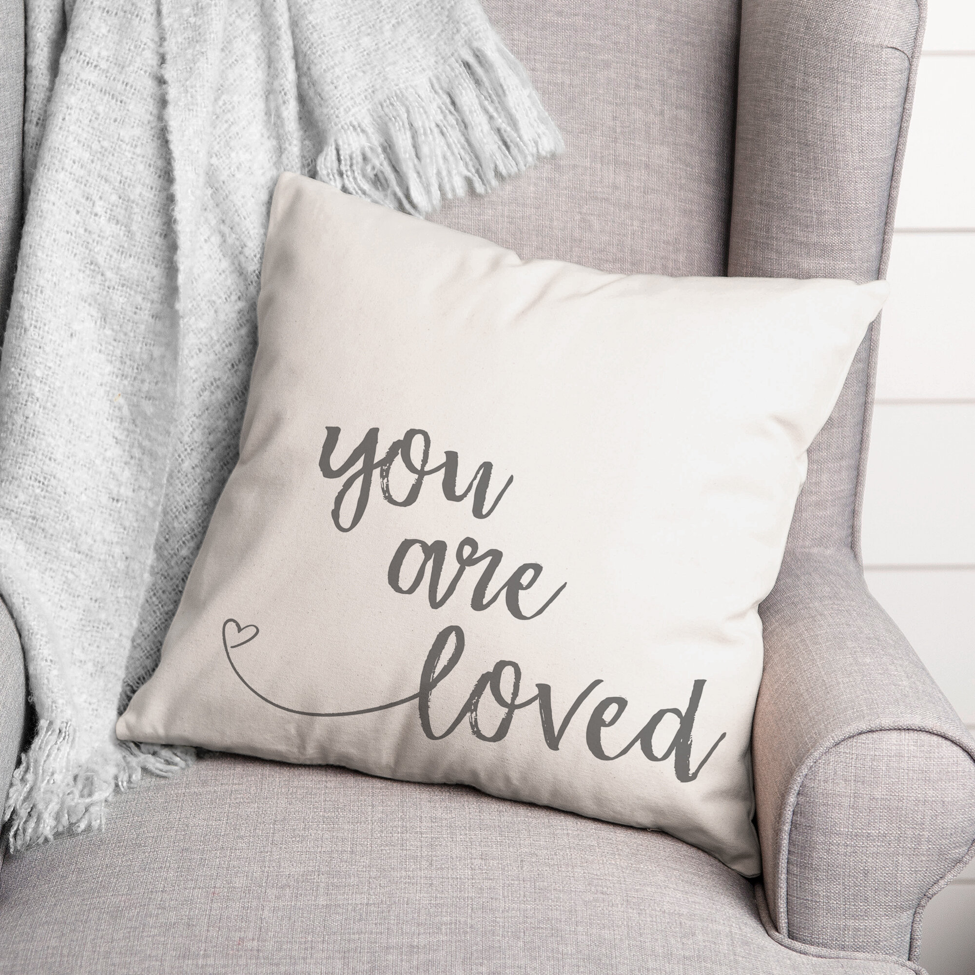 Latitude Run Ajub You Are Loved Throw Pillow Wayfair