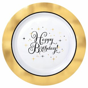 Premium Birthday Plastic Disposable Dinner Plate (Set of 10)