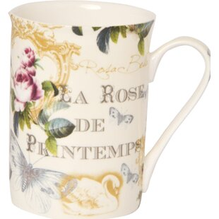 Amani Rose De Printem Bone China Coffee Mug