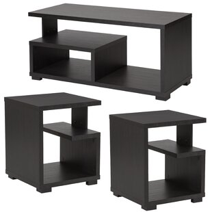 Alistair 3 Piece Coffee Table Set Ebern Designs