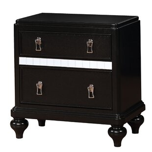 Bakker Contemporary Wood 2 Drawer Nightstand by Bloomsbury Market