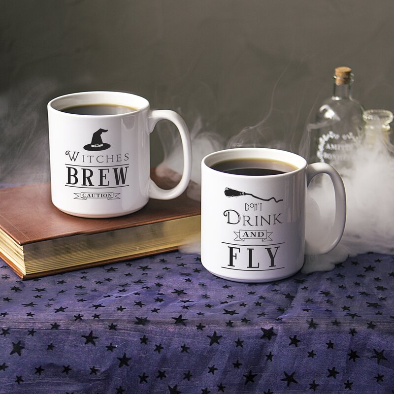 Newell Witches Brew 20 Oz Large 2 Piece Coffee Mug Set