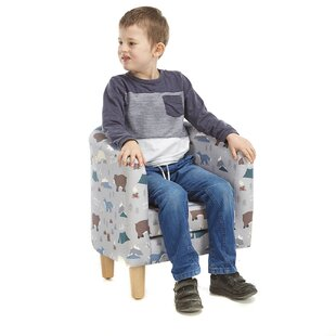 Files Animal Camp Into The Wild Children's Club Chair By Zoomie Kids