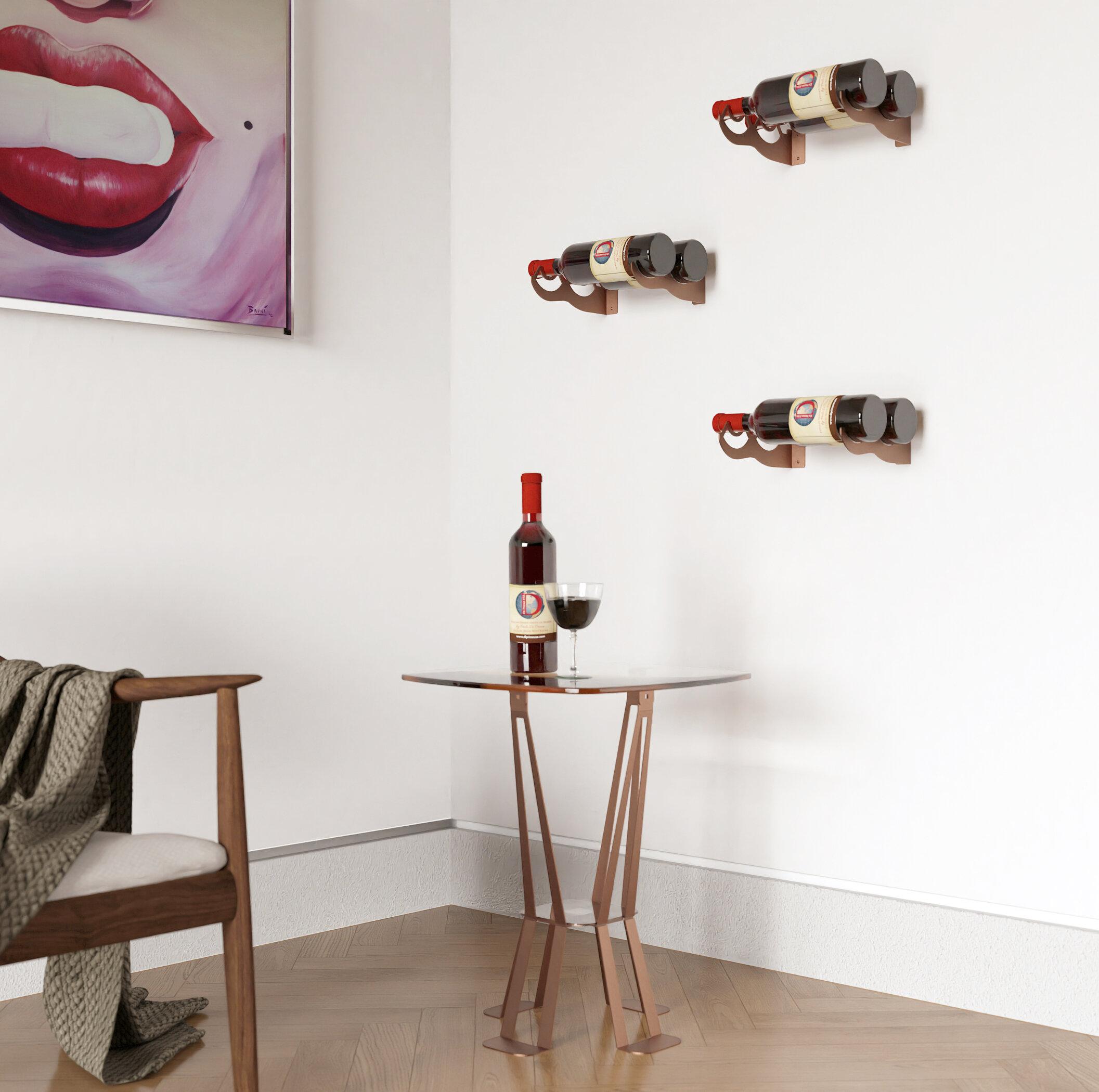 Ebern Designs Iolanthe 2 Bottle Wall Mounted Wine Bottle Rack In Corten Wayfair