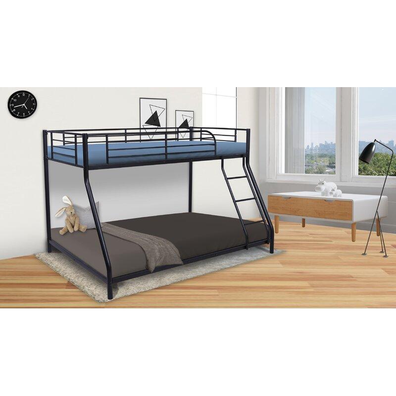 Isabelle Max Dringenberg Metal Twin Over Full Bunk Bed Wayfair