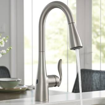 Moen Arbor Pull Down Touchless Single Handle Kitchen Faucet ...