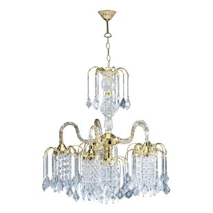 ORE Furniture Cascading 6-Light Shaded Chandelier