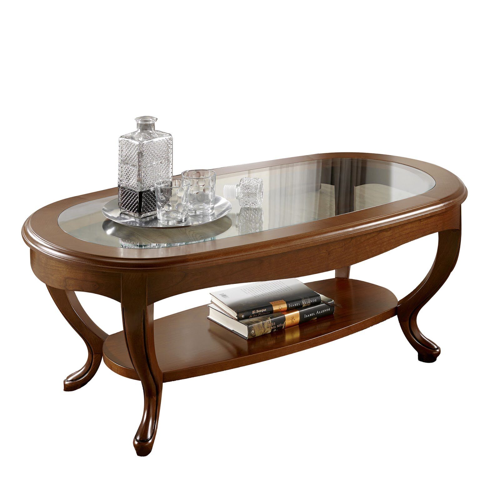 Canora Grey Royce Oval Glass Top Coffee Table Wayfairca