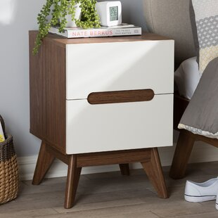Gavin Wood 2 Drawer Nightstand