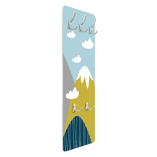 Mountains With Clouds Wall Mounted Coat Rack By Symple Stuff