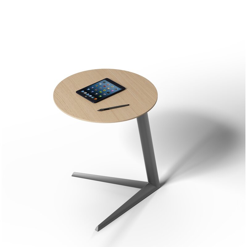 BDI Milo Laptop End Table  Table Top Color: Drift Oak