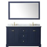 Avery 60 Double Bathroom Vanity Set with Mirror by Wyndham Collection