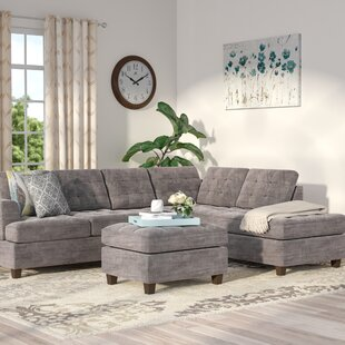 Andover Mills Gabbard Reversible Sectional with Ottoman