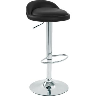 Review Shattuck Height Adjustable Leather Bar Stool