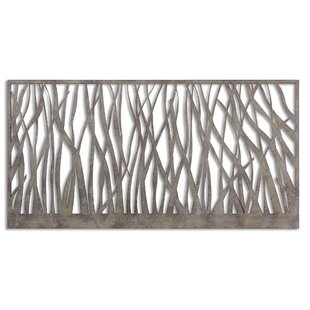 Olive/Gray Metal Wall Decor