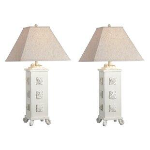 Highland Dunes Emmy Seashell Table Lamp (Set of 2)