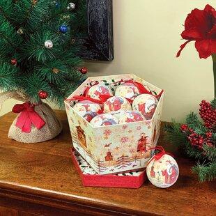 Mercury Glass Santa Ornaments Wayfair