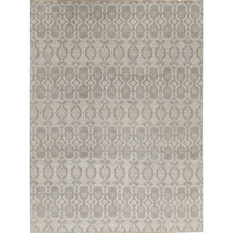 Bokara Rug Co Inc Neo Villa Geometric Hand Knotted Gray Area Rug Wayfair