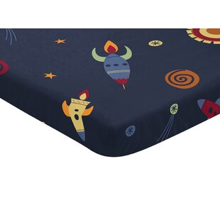 Best Reviews Space Galaxy Mini Fitted Crib Sheet By Sweet Jojo Designs