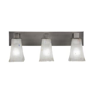 Elburn 3-Light Glass Shade Vanity Light by Red Barrel Studio