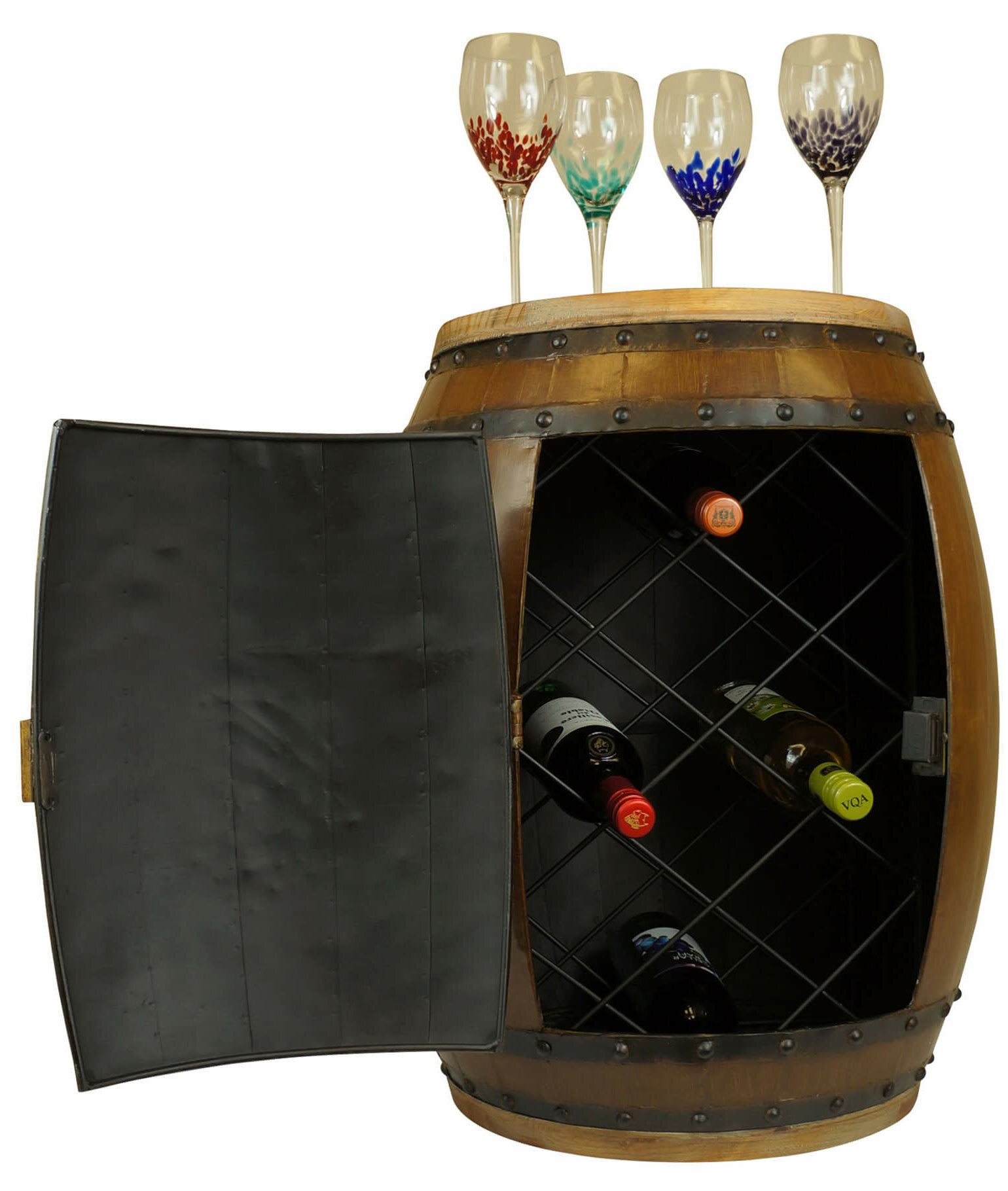 Mr Mjs Iron Barrel Shape Wine Rack Wayfair