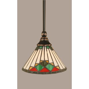 Ritchie 1-Light Stem Mini Pendant With Hang Straight Swivel by Red Barrel Studio