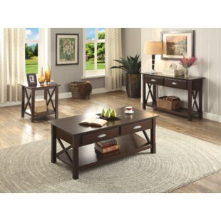 Darby Home Co Domaingue 3 Piece Coffee Table Set