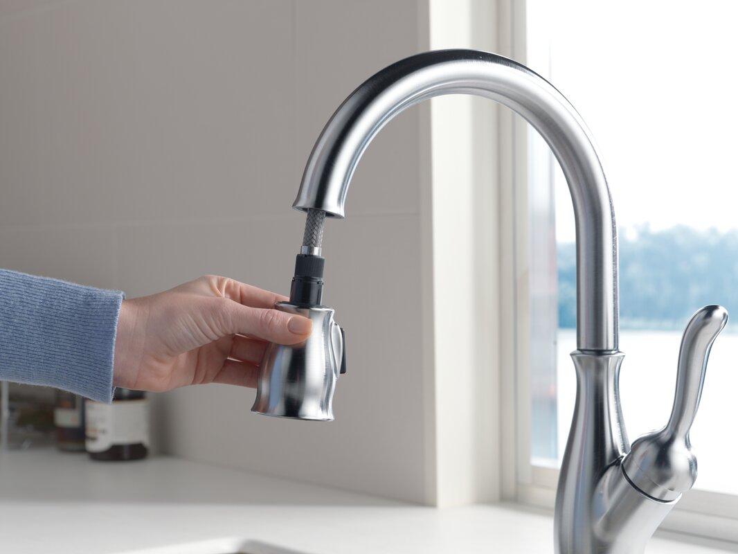 delta leland single handle pull down standard kitchen faucet default name