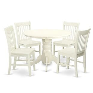 Sherlock 5 Piece Breakfast Nook Dining Set August Grove