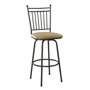 Red Barrel Studio Busti Adjustable Height Swivel Bar Stool (Set of 3)