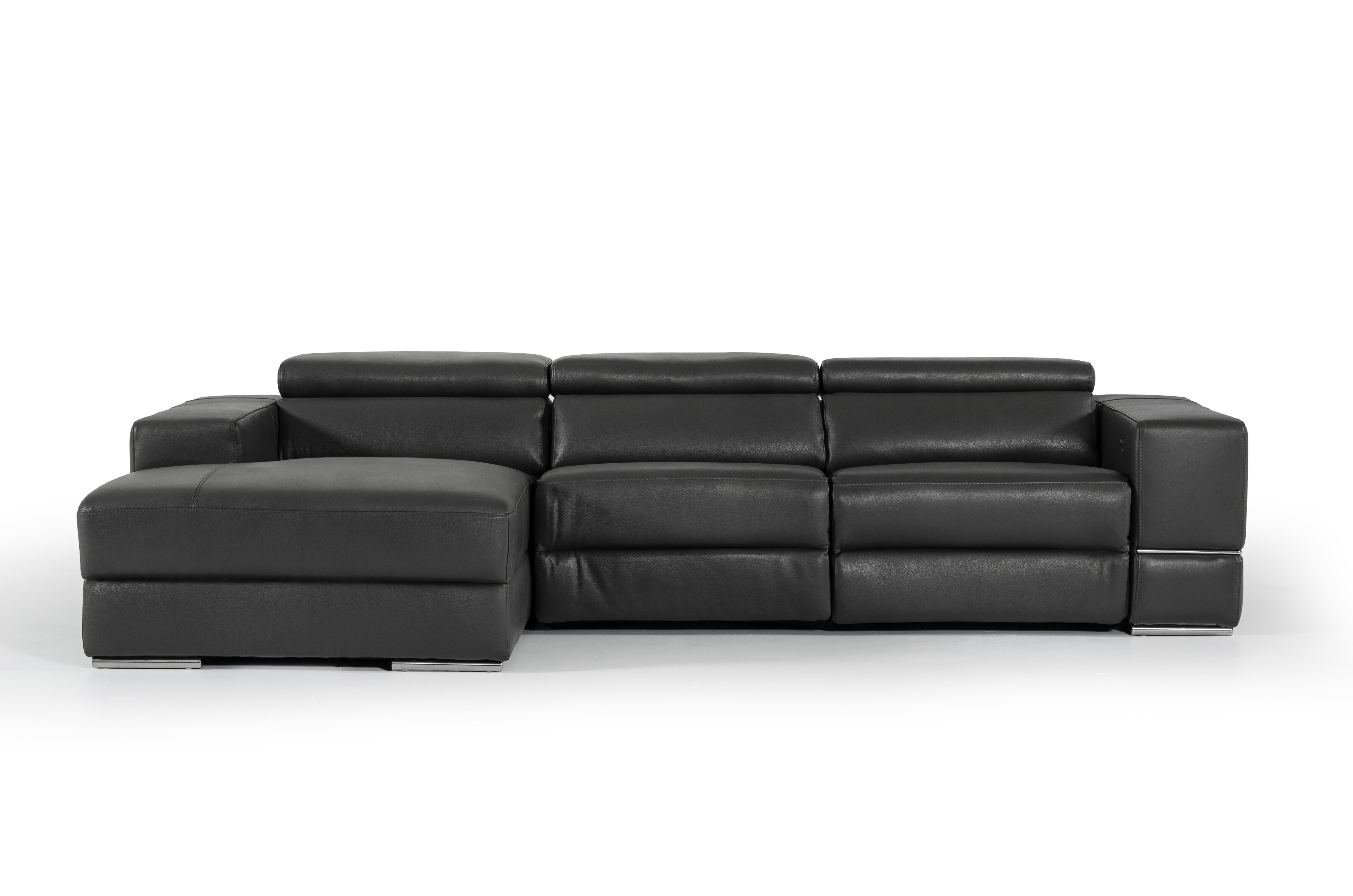 Admirable Galena Left Hand Facing L Shaped Leather Reclining Sectional Dailytribune Chair Design For Home Dailytribuneorg