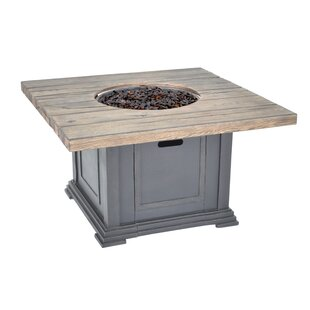 Veranda Classics Romance II Stainless Steel Propane/Natural Gas Fire Pit Table